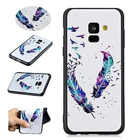 voordelige Galaxy A3(2016) Hoesjes / covers-hoesje Voor Samsung Galaxy A5(2018) / A8 2018 / A5(2016) Patroon Achterkant Veren Zacht TPU