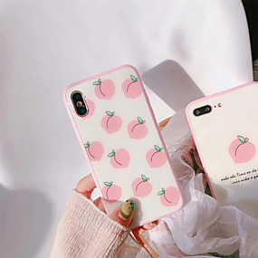olcso iPhone tokok-Case Kompatibilitás Apple iPhone X / iPhone 7 Porálló Fekete tok Élelem / Gyümölcs Kemény Szilikon mert iPhone X / iPhone 8 Plus / iPhone 8