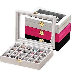 billiga Förvaring och organisation-24 stycken träkvinnors stora förvarings smyckeskrin