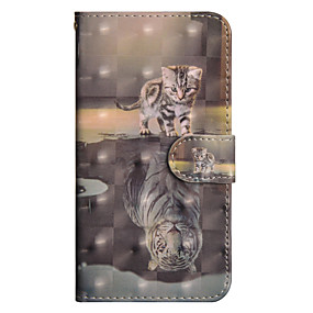 cheap Sony-Case For Sony Xperia XA2 Ultra / Xperia XA1 Ultra Wallet / Card Holder / with Stand Full Body Cases Cat Hard PU Leather for Sony Xperia XZ2 / Sony Xperia XZ2 Compact / Xperia XZ2 Compact