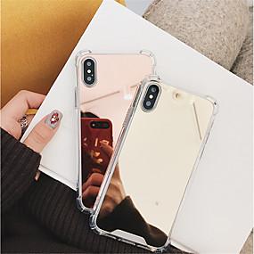 abordables Coques d'iPhone-Coque Pour Apple iPhone X / iPhone 8 Antichoc / Miroir Coque Couleur Pleine Dur PC pour iPhone X / iPhone 8 Plus / iPhone 8