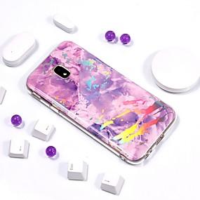 voordelige Galaxy J3(2017) Hoesjes / covers-hoesje Voor Samsung Galaxy J7 (2017) / J7 (2016) / J7 Beplating / IMD / Patroon Achterkant Marmer Zacht TPU