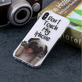 abordables Coques d'iPhone-Coque Pour Apple iPhone X / iPhone 8 IMD / Motif Coque Chien Flexible TPU pour iPhone X / iPhone 8 Plus / iPhone 8