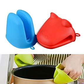 ieftine Ustensile Bucătărie & Gadget-uri-hippo forma de broasca silicon izolate mănuși cuptor mitt rezistente la căldură