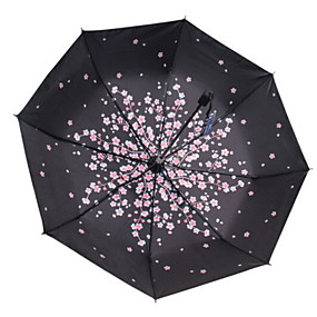 Недорогие Защита от дождя-Полиэстер / Нержавеющая сталь Все Recyclable Складные зонты