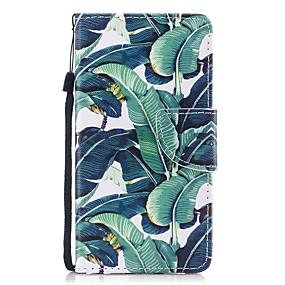 voordelige Galaxy J3(2017) Hoesjes / covers-hoesje Voor Samsung Galaxy J3 (2017) Portemonnee / Kaarthouder / Flip Volledig hoesje Boom Hard PU-nahka