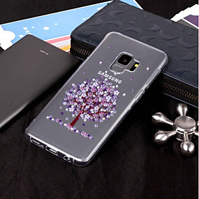 voordelige Galaxy S7 Edge Hoesjes / covers-hoesje Voor Samsung Galaxy S9 / S9 Plus / S8 Plus IMD / Transparant / Patroon Achterkant Boom Zacht TPU