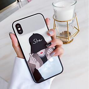 halpa iPhone 6s kotelot-Etui Käyttötarkoitus Apple iPhone X Kuvio Takakuori Punk Kova Karkaistu lasi varten iPhone X / iPhone 8 Plus / iPhone 8