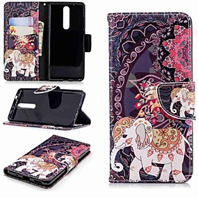 cheap Nokia-Case For Nokia Nokia 5.1 / Nokia 3.1 Wallet / Card Holder / with Stand Full Body Cases Elephant Hard PU Leather for Nokia 5 / Nokia 3 / Nokia 2.1