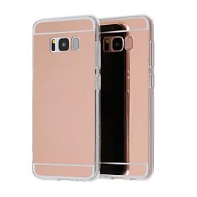 voordelige Galaxy S7 Hoesjes / covers-hoesje Voor Samsung Galaxy S9 / S9 Plus / S8 Plus Beplating / Spiegel / Ultradun Achterkant Effen Hard Acryl