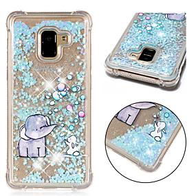 voordelige Galaxy A5(2016) Hoesjes / covers-hoesje Voor Samsung Galaxy A6 (2018) / A6+ (2018) / A3 (2017) Schokbestendig / Stromende vloeistof / Patroon Achterkant Glitterglans / Olifant Zacht TPU