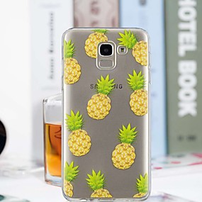 voordelige Galaxy J3(2017) Hoesjes / covers-hoesje Voor Samsung Galaxy J7 (2017) / J6 / J5 (2017) Transparant / Patroon Achterkant Fruit Zacht TPU