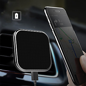billige Trådløse bilopladere-ni fem nc2 magnetiske bil trådløse oplader til iphone 8p / x universal trådløs oplader bil mount til android telefon