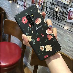 voordelige Galaxy S7 Hoesjes / covers-hoesje Voor Samsung Galaxy S9 / S9 Plus / S8 Plus Mat Achterkant Bloem Hard PC