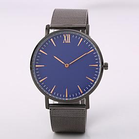 7902e549ca8 baratos Jóias  amp  Relógios-Homens Relógio de Pulso Quartzo Preta   Prata    Ouro