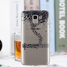voordelige Galaxy J3(2017) Hoesjes / covers-hoesje Voor Samsung Galaxy J7 (2017) / J6 / J5 (2017) Transparant / Patroon Achterkant Woord / tekst Zacht TPU