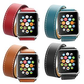 voordelige Dagaanbiedingen-Horlogeband voor Apple Watch Series 4/3/2/1 Apple Leren lus Leer / Echt leer Polsband