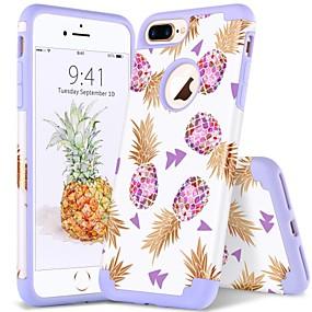 olcso iPhone tokok-BENTOBEN Case Kompatibilitás Apple iPhone 8 Plus / iPhone 7 Plus Ütésálló / IMD / Minta Fekete tok Növények / Vonalak / hullámok / Gyümölcs Puha PC / Silica Gel mert iPhone 8 Plus / iPhone 7 Plus