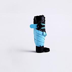 Недорогие Защита от дождя-пластик Жен. Солнечный и дождливой Складные зонты