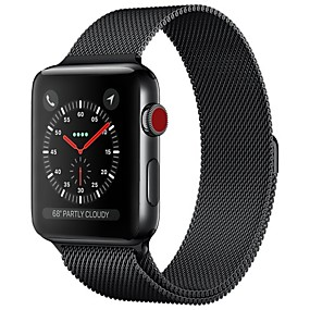 billige Smart Watches-Rustfrit stål Urrem Strap for Apple Watch Series 4/3/2/1 Sort / Blåt / Sølv 23cm / 9 tommer 2.1cm / 0.83 Tommer