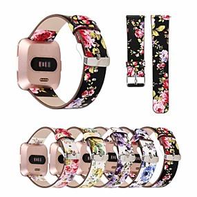 economico Cinturini per Fitbit-Cinturino per orologio  per Fitbit Versa Fitbit Cinturino di pelle Vera pelle Custodia con cinturino a strappo