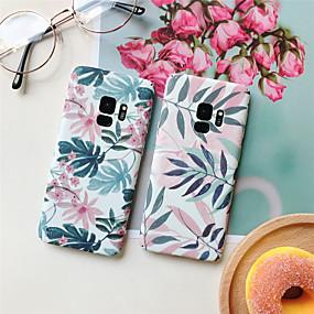 olcso Galaxy S tokok-Case Kompatibilitás Samsung Galaxy S9 Plus / S8 Plus Minta Fekete tok Növények Kemény PC mert S9 / S9 Plus / S8 Plus