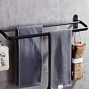 cheap Bathroom Gadgets-Towel Bar New Design / Cool Modern Stainless Steel / Iron 1pc Double Wall Mounted