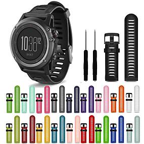 billige Klokkeremmer til Garmin-Klokkerem til Fenix 5x / Fenix 3 HR / Fenix 3 Garmin Sportsrem Silikon Håndleddsrem