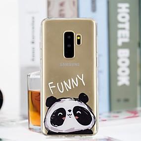 voordelige Galaxy S7 Hoesjes / covers-hoesje Voor Samsung Galaxy S9 / S9 Plus / S8 Plus Transparant / Patroon Achterkant Panda Zacht TPU