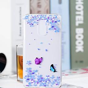 voordelige Galaxy S7 Hoesjes / covers-hoesje Voor Samsung Galaxy S9 / S9 Plus / S8 Plus Transparant / Patroon Achterkant Vlinder / Bloem Zacht TPU