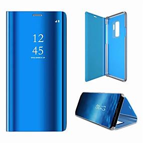 voordelige Galaxy S7 Hoesjes / covers-hoesje Voor Samsung Galaxy S9 / S9 Plus / S8 Plus Spiegel / Flip Volledig hoesje Effen Hard PC