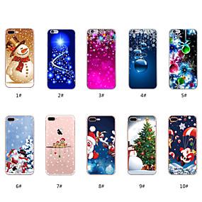 Недорогие Модные популярные товары-Кейс для Назначение Apple iPhone X / iPhone 8 С узором Кейс на заднюю панель Рождество Мягкий ТПУ для iPhone X / iPhone 8 Pluss / iPhone 8