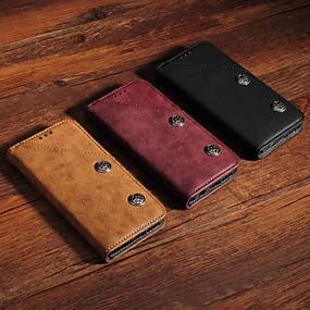 halpa Galaxy S -sarjan kotelot / kuoret-Etui Käyttötarkoitus Samsung Galaxy S9 Plus / S8 Plus Lomapkko / Korttikotelo / Tuella Suojakuori Yhtenäinen / Tiili Kova PU-nahka varten S9 / S9 Plus / S8 Plus