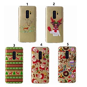 voordelige Galaxy S7 Hoesjes / covers-hoesje Voor Samsung Galaxy S9 / S9 Plus / S8 Plus Transparant / Patroon Achterkant Kerstmis Zacht TPU