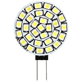 Χαμηλού Κόστους Φωτιστικά LED δυο ακίδων-SENCART 1pc 3 W LED Φώτα με 2 pin 180 lm G4 T 30 LED χάντρες SMD 2835 Διακοσμητικό Θερμό Λευκό Άσπρο 12 V
