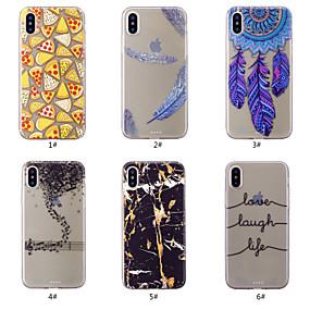 olcso iPhone tokok-Case Kompatibilitás Apple iPhone XS / iPhone XS Max Minta Fekete tok Álomfogó / Tollak / Márvány Puha TPU mert iPhone XS / iPhone XR / iPhone XS Max
