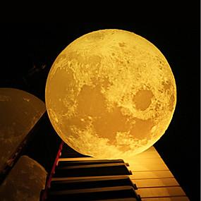 ieftine Lumini Nocturne LED-12cm 3d lampă lună dormitor bibliotecă lumina de noapte creativ cadou de anul nou de Crăciun