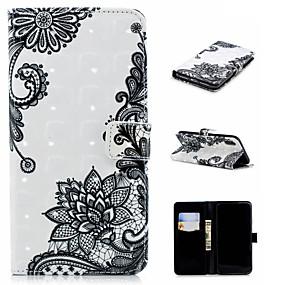 levne Pouzdra iPhone XS-Carcasă Pro Apple iPhone XS / iPhone XS Max Peněženka / Pouzdro na karty / se stojánkem Celý kryt Lace tisk Pevné PU kůže pro iPhone XS / iPhone XR / iPhone XS Max