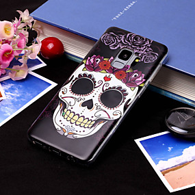 voordelige Galaxy S7 Edge Hoesjes / covers-hoesje Voor Samsung Galaxy S9 / S9 Plus / S8 Plus IMD / Patroon Achterkant Doodskoppen Zacht TPU