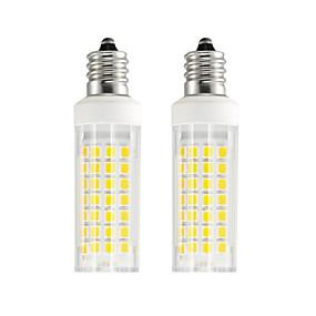 זול נורות תירס לד-2pcs 6 W נורות תירס לד 750 lm E12 T 88 LED חרוזים SMD 2835 לבן חם לבן קר 85-265 V