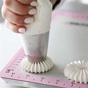 ieftine Bucătărie & Masă-2pcs Oțel inoxidabil Bucătărie Gadget creativ Tort Cupcake Pentru ustensile de gătit desert decoratori Instrumente de coacere