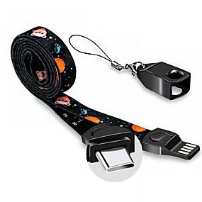 olcso Google-C típusú Kábel 1m-1.99m / 3ft-6ft Lapos / Nagy sebesség / Arannyal bevont Alumínium / Vászon USB kábeladapter Kompatibilitás Samsung / Huawei / LG