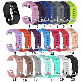 economico Cinturini per Fitbit-Cinturino per orologio  per Fitbit Charge 2 Fitbit Cinturino sportivo Silicone Custodia con cinturino a strappo