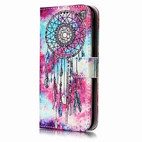 voordelige Galaxy J7 Hoesjes / covers-hoesje Voor Samsung Galaxy J7 (2016) / J7 / J5 (2017) Portemonnee / Kaarthouder / met standaard Volledig hoesje Dromenvanger Hard PU-nahka