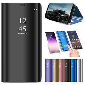 ราคาถูก เคสสำหรับ iPhone-Case สำหรับ Apple iPhone XS / iPhone XS Max with Stand / Plating / Mirror ตัวกระเป๋าเต็ม สีพื้น Hard หนัง PU สำหรับ iPhone XS / iPhone XR / iPhone XS Max