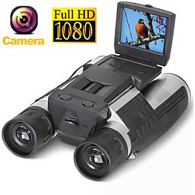 halpa Päivittäistarjoukset-zoom fs608 digitaalinen binokulaarinen teleskooppi kamera 5mp cmos -anturi 2,0 '' tft täysi hd 1080p DVR valokuva videotallennus USB-kiikari