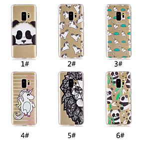 voordelige Galaxy S7 Hoesjes / covers-hoesje Voor Samsung Galaxy S9 / S9 Plus / S8 Plus Patroon Achterkant Eenhoorn / Cartoon / Panda Zacht TPU