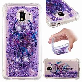 voordelige Galaxy J3(2017) Hoesjes / covers-hoesje Voor Samsung Galaxy J8 (2018) / J7 (2017) / J7 (2018) Schokbestendig / Stromende vloeistof / Transparant Achterkant Dromenvanger / Glitterglans Zacht TPU