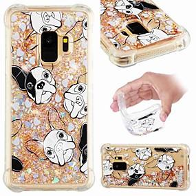 halpa Galaxy S -sarjan kotelot / kuoret-Etui Käyttötarkoitus Samsung Galaxy S9 Plus / S8 Iskunkestävä / Virtaava neste / Läpinäkyvä Takakuori Koira / Kimmeltävä Pehmeä TPU varten S9 / S9 Plus / S8 Plus