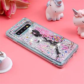 voordelige Galaxy S7 Hoesjes / covers-hoesje Voor Samsung Galaxy S9 / S9 Plus / S8 Plus Schokbestendig / Stromende vloeistof / Patroon Achterkant Sexy dame / Glitterglans Zacht TPU
